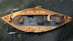 Wood drift boat