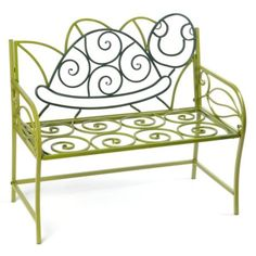 Green Turtle Kid's Metal Bench | Kirkland's