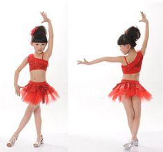 Viste la nueva moda 2014 desgaste latino de la danza para las niñas más el  tamaño de vestidos baile de salón 60eb3749f87