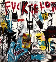 FUCK THE LOW / 2013  mixed media on plexiglass