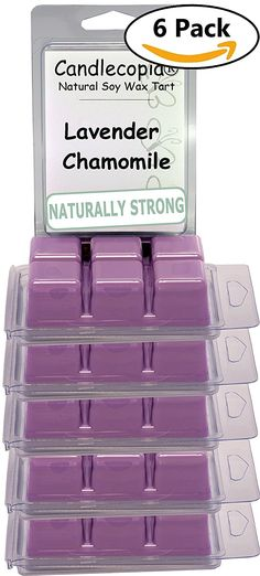 Candlecopia Lavender Chamomile Strongly Scented Sustainable Vegan Natural Soy Wax Melts, 36 Soy Wax Cubes, 19.2 Ounces in 6 x 6-Packs -- Find out more about the great product at the image link. (This is an affiliate link and I receive a commission for the sales)