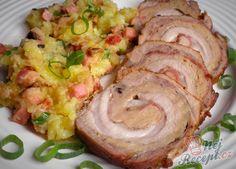 """Když se řekne bůček, někteří jen znechuceně protáhnou obličej. Chudáci netuší, jaké dobroty se z něj dají vykouzlit. I ten náš malý rozumbrada už ví, že bůček není jen to """"tlustý a klepavý"""". Autor: Danka Baked Potato, Potato Salad, Sushi, Pork, Food And Drink, Meat, Chicken, Ethnic Recipes, Healthy Food"""