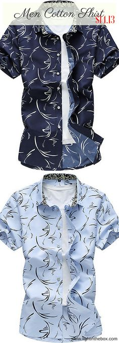 Casual street chic cotton men shirt with short sleeves. Like this light print? S… – Men's style, accessories, mens fashion trends 2020 Cheap Mens Shirts, Mens Shirts Online, Cool Shirts, Casual Shirts, Stylish Mens Outfits, Cool Outfits, Teen Boy Fashion, Mens Fashion, Men Shirt