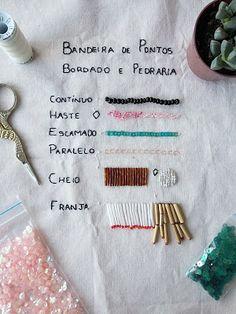 Pinto e Bordo - Bordado e Pedraria  #bordado #pedraria #embroidery