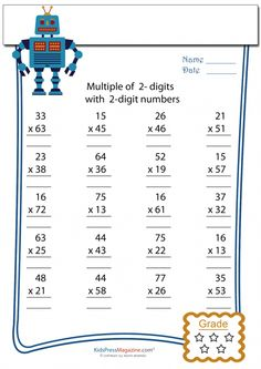 4 digit multiplication worksheetsbenderos printable math 5th grade math pinterest math. Black Bedroom Furniture Sets. Home Design Ideas