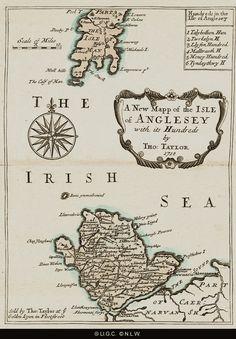 plât 10 History Of Wales, Anglesey, Cymru, Vintage World Maps