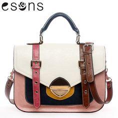 Cambridge Handbag/ New Arrival England Retro Bag /leather Contrast-color Shoulder Messenger Handbag