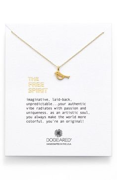 Dogeared 'Free Spirit' Bird Pendant Necklace available at #Nordstrom
