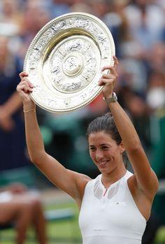 Así fue el partidazo de Garbiñe para coronarse reina en Wimbledon - Garbiñe Muguruza conquistó sobre la hierba de... | MARCA.com