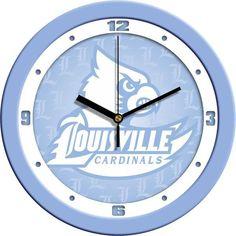New - Louisville Cardinals-Baby Blue Wall Clock