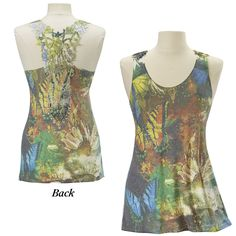 Butterfly Lace Back Top - New Age & Spiritual Gifts at Pyramid Collection