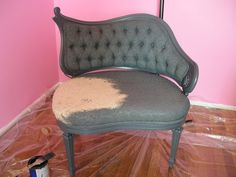 HOW TO: PAINT A FABRIC CHAIR