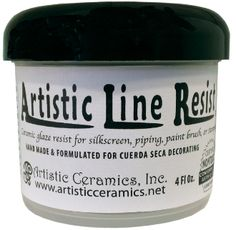 black wax resist, can be made by mixing ceramic resist wit mason stains. cuerda seca, pottery ceramics clay
