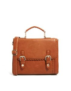 ASOS | ASOS Satchel Bag With Scalloped Edge at ASOS