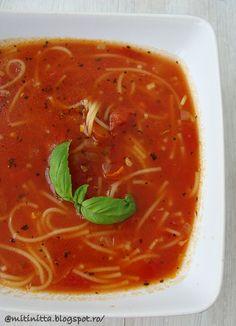 Reteta culinara Supa cu rosii si fidea din categoria Supe. Cum sa faci Supa cu rosii si fidea