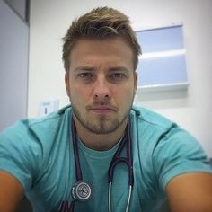 I have never worked with a doctor this hot in all my years…. Hot Doctor, Male Doctor, Beautiful Men Faces, Gorgeous Men, Scammer Pictures, Cleft Chin, Eye Candy Men, Ginger Men, Blonde Guys