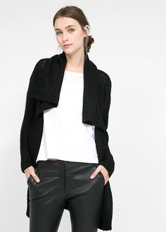 Long wool-blend cardigan by Mango Knitwear Fashion, Mango Fashion, Manga, Cardigans For Women, Just In Case, Wool Blend, Latest Trends, Cool Outfits, Casual