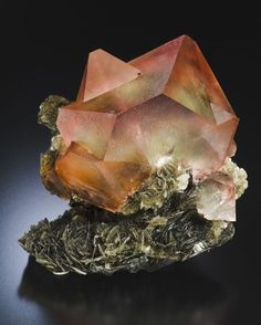Fluorite Muscovite | Locality: Pakistan Dimensions: 14.5 cm h Photo Copyright Jeffrey A. Scovil Geology Page