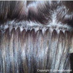 Nano hair extensions at Glo