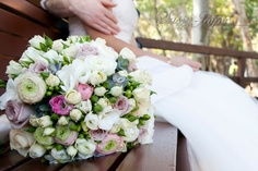 Bridal Posy of mixed Ranunculi Spray Roses and Freesias