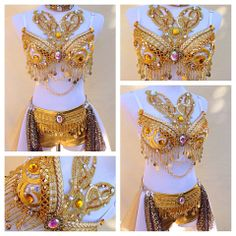 """Just a thought - custom made """"EDM"""" sets. On Facebook """"Electric Laundry"""" -  """"Currently all of our custom bra's begin at $70 and then go up depending on the amount of detailing you would like incorporated. For example Peacock Feathers and special pendants or chains will cost more. The price will be given to you upon receiving the description of what you would like made. All bottoms begin at $45 this includes (basic booty shorts and undies) Headpieces begin at $15. Garters $15. Garter Belts…"""