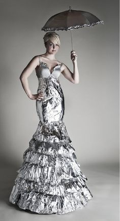 Aluminum-Foil-Dress