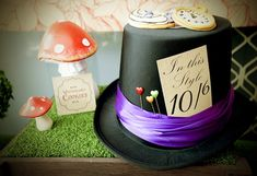 Mad Hatter Tea Party Baby Shower with SO MANY FABULOUS IDEAS via Kara's Party Ideas | KarasPartyIdeas.com #aliceinwonderland #aliceinwonderl...