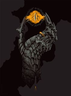 "Phantom City Creative's Latest Print For Mondo, ""Hand Of Sauron"" Is Gripping!"