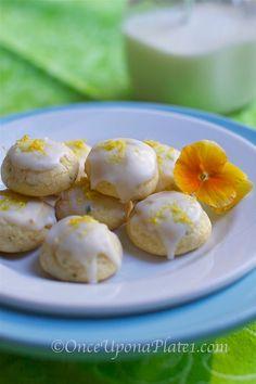 Once Upon a Plate: Lemon, White Chocolate and Basil Cookies