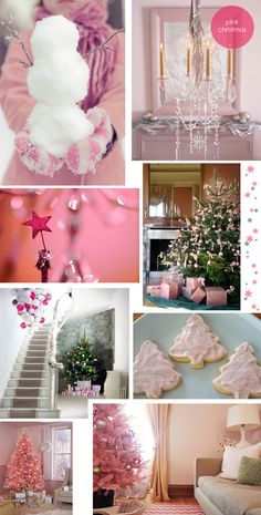 ♥  Pink #Christmas Decorations ♥