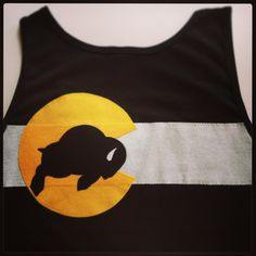 Custom Colorado Flag CU Buffs Tank Top  by Frozen Kiss