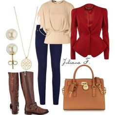 Nice fall outfit for business. #outfit #work