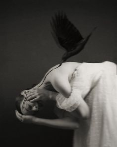 Josephine Cardin - Self-Portrait – Dark BeautyDark Beauty Quoth The Raven, Josephine, Dark Beauty, New Work, Holding Hands, The Balm, Self, Photoshoot, Black And White