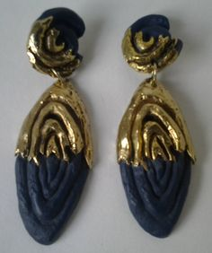 Earrings from Claude Montana by ParisVintageBcn on Etsy