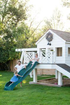 Backyard Playhouse, Backyard Playground, Backyard For Kids, Backyard Patio, Backyard Landscaping, Studio Mcgee, Kids House, Play Houses, Outdoor Living