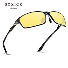 576abc2925d SOXICK Night Vision Glasses for Driving Rain Day Driving Anti Glare  Polarized Safe Glasses Vision Glasses