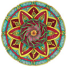 Coloured Version of Mandala 1 July 2014 by Artwyrd.deviantart.com on @DeviantArt