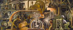 Marvin Beerbohm: Automotive Industry (mural, Detroit Public...   by americanartmuseum