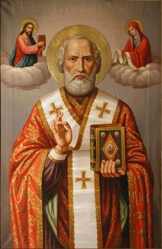 Nicholas of Myra, Bishop, Confessor Mass Propers: Tuesday of the Second Week in Advent: Our Lady of Seez, built by Saint. Catholic Saints, Patron Saints, Old Fashion Christmas Tree, Retro Christmas, Saints For Kids, Happy Feast Day, Catholic Pictures, Lion Tattoo Design, Angels