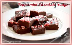 Peppermint Chocolate Fudge via @Laurie {passionatepennypincher.com}