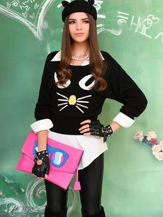cat wool blended sweater $77