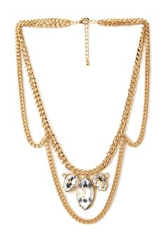 Sparkling Chain Necklace | FOREVER21 Make a statement #Accessories #Rhinestone #Necklace