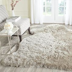 Safavieh Arctic Shag Collection SG270V Handmade Beige Polyester Area Rug 5 x 7 *** You can get additional details at the image link.