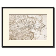 Europe Asia Vintage Sepia Map Canvas Print, Picture Frame Gifts Home Decor Wall Art Decoration