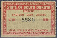 Iowa wildlife habitat stamp 1983 state conservation for South dakota non resident fishing license
