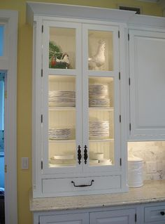 LED Lighting above cabinet and inside glass cabinet, undercabinet ...