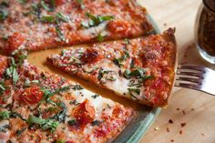 Our most awesome Margherita Pizza! Featured here on our Gluten-Free crust