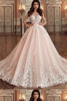 2698844f65c Cheap Beautiful A-Line Wedding Dress Excellent A-Line Scoop-Neck Cathedral  Train Tulle Appliqued Romantic Wedding Dresses