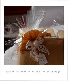 """emballage cadeau fait maison """"ramage"""""""