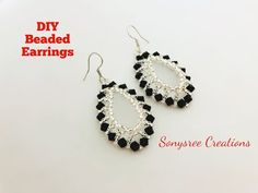 Bicone Beaded Earrings.Super Easy Tutorial.DIY Beaded Earrings 💞 - YouTube